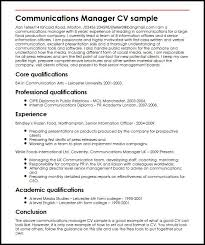 communications manager cv sample myperfectcv