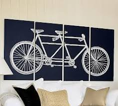 larger image home decor paintings city street  tandem bicycle canvas j
