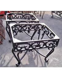 wrought iron side table. Wrought Iron End Tables - Heavy Table Bases $550.00 Each. Matching Side L