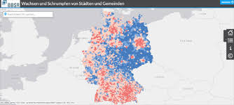 Growing And Shrinking Maps Mania Germanys Growing Shrinking Cities