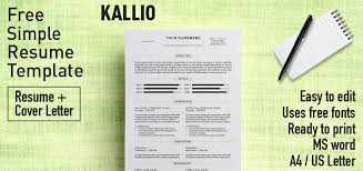 Free Resume Print And Download Kallio Simple Resume Word Template Docx
