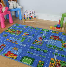 childrens rug with roads