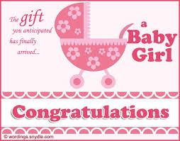 Baby Congrats Note Congratulation For New Baby Girl Rome Fontanacountryinn Com