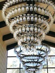 how to make a wine glass chandelier chandelier wine glass vineyard chandelier made of wine glasses