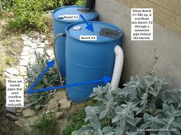 collecting rain from your roof in rain barrels is a great way to use a free