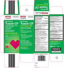 Tussin Cf Adult Cough And Cold Solution Cvs Pharmacy