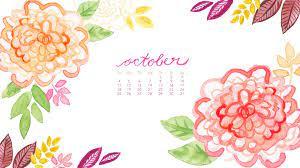 October Birth Flower Calendar With ...