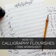 How to: Calligraphy Flourishes + Free Printable – Pretty Prints ...