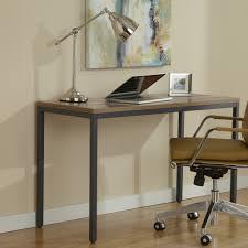 parsons edition narrow 47x20 writing desk in walnut