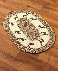 large braided rug country themed braided rug accent deer big braided rugs