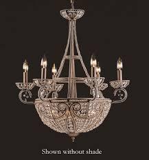elk 5967 6 4 elizabethan dark bronze 10 light crystal chandelier