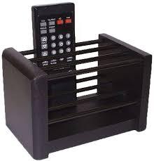 wood remote control organizer image