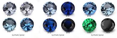 Sapphire Color Chart Lab Created Aquamarine Spinel 105 Gemstones China Suppliers