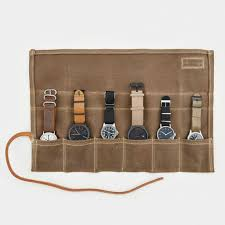 men s watches shop cool material waxed canvas watch roll