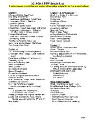 Fillable Teacher Supplies List Edit Online Print Download Forms