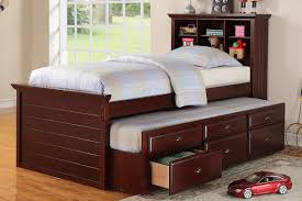 Twin Bed Frame With Trundle With Storage — Kskradio Beds : Popular ...