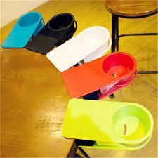 lifesaver desk cup holder clip abs office drinks beverages cupholder plastic home table storage racks no
