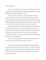 les miserables reflection essay zoom zoom