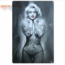 marilyn monroe tattoo wall art
