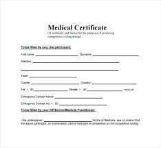 Blank Doctors Note For Fake Medical Certificate Template