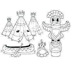 Free Native American Indian Coloring Pages Free Native Coloring