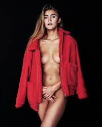 Stefanie Giesinger Topless And Covering Her Pussy By Corey