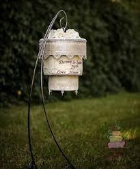 round chandelier cake stands