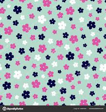 Vector Naadloze Patroon Van Kleine Ditsy Print Bloemen Roze Wit