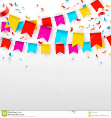 Celebrate Banner Celebrate Banner Party Flags With Confetti And Balloons
