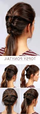 Quick Cute Ponytail Hairstyles Simple Cute Ponytail Hairstyles 1000 Ideas About Easy Ponytail