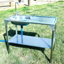 outdoor sink table garden station portable camping kitchen camp unit folding tap drain parts s outdoor garden sinks
