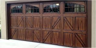 refinishing wood garage doors cozy painting garage door to look like wood faux wood garage doors