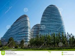 famous modern architecture. In Asia, Beijing, China, Modern Architecture, Wangjing SOHO Famous Architecture T