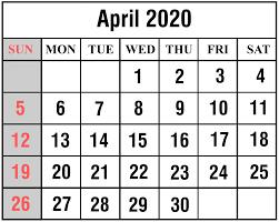 Free Printable April Calendar 2020 Free April 2020 Printable Calendar Template In Pdf Excel