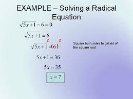solving radical equations objective