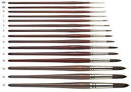 Pro Arte Series 202 Round Acrylic Paint Brush Size 8