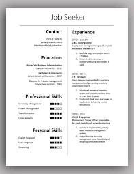 Simple Resume Format Download In Ms Word 2007 Resume Examples
