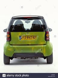 Smart Car Design Studio Green Smart Car Rear View Studio White Background Studio