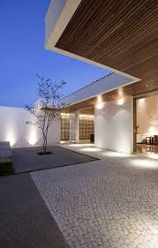 modern spot lighting. Up Lighters And Wall Spot Lights | Garden Lighting || Gedda House By Mustafá Bucar Arquitetura Modern U
