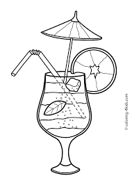 30b8cbf5b0bcd50534b27b2cd53580f6 summer cocktail coloring pages for kids, free, printable on free printable watercolor beach