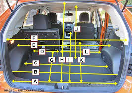 subaru xv crosstrek cargo area merements and dimensions