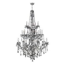 provence collection 25 light chrome crystal chandelier