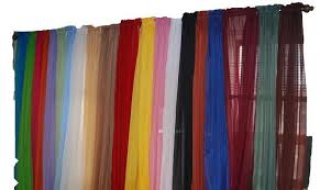 Image of: Bright Red Sheer Curtains 695