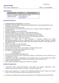 Enchanting Informatica Sample Resume About Sql Resumes Indeed