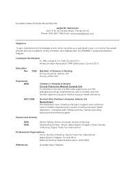 New Nursing Graduate Resume New Graduate Nurse Resume Examples Recent Nursing Student Cover