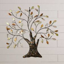nadia tree leaves wall d cor on stratton home decor blowing leaves metal wall art with stratton home decor blowing leaves wall d cor reviews wayfair