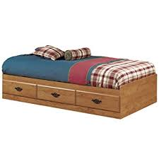 twin platform bed. Prairie Collection Twin Bed With Storage - Platform 3 Drawers Country Pine Finish