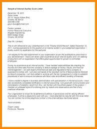 Resume Certified Internal Auditor Cover Letter Best Inspiration