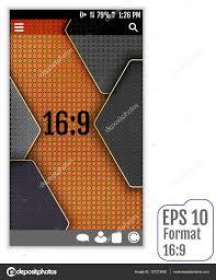 Vector Image Format In Ui Design Carbon Ui Vector Design Format 16 9 Stock Vector