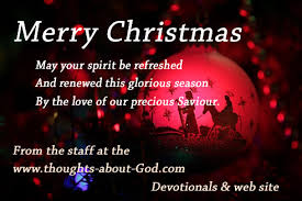 Christmas Blessing — Thoughts about God Daily Devotionals